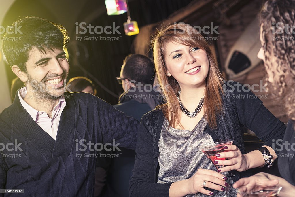 friends enjoy at the disco royalty-free stock photo