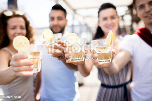 istock Friends Enjoying Drinks at Party 1030218346
