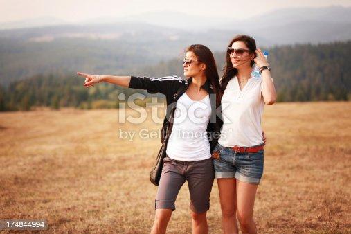 istock Friends enjoying the nature 174844994