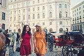 Young woman enjoying Vienna together