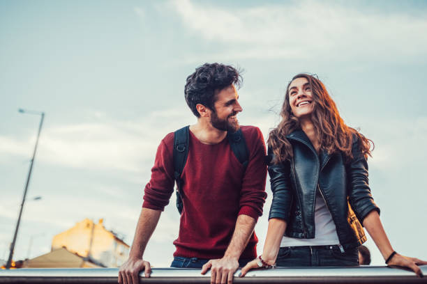 friends falling in love - i love you stock photos and pictures