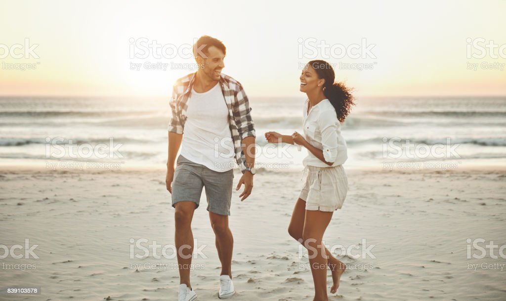 Friends first, lovers second! stock photo