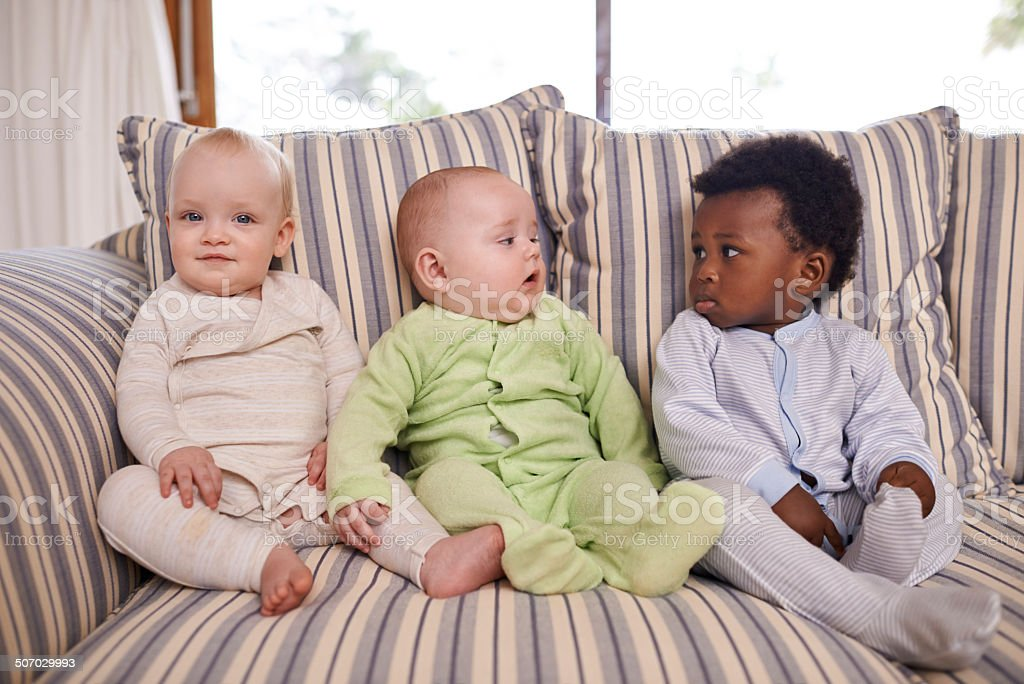 Friends from an early age stock photo