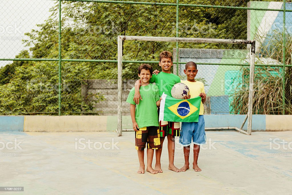Friends from Brazil stock photo