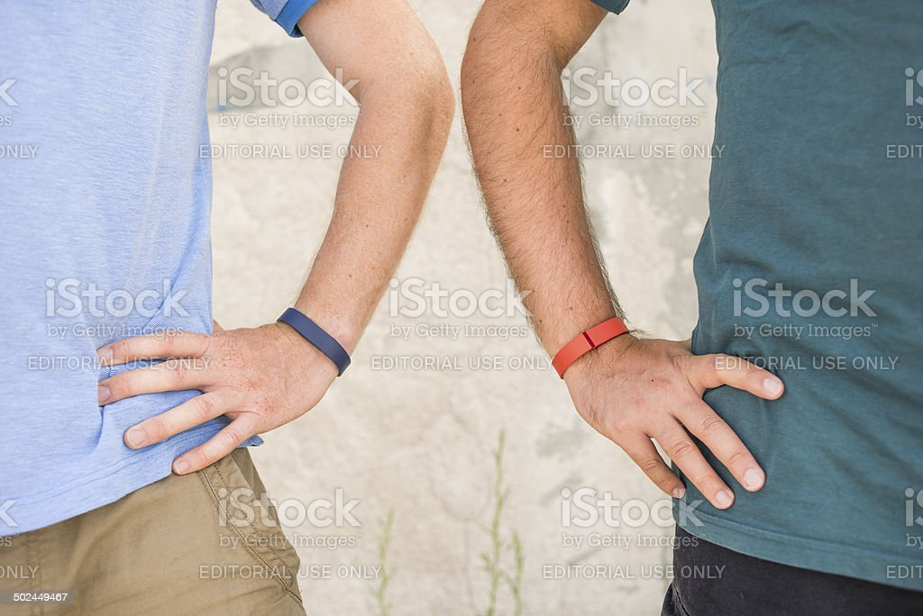 Friends Getting Healthy royalty-free stock photo