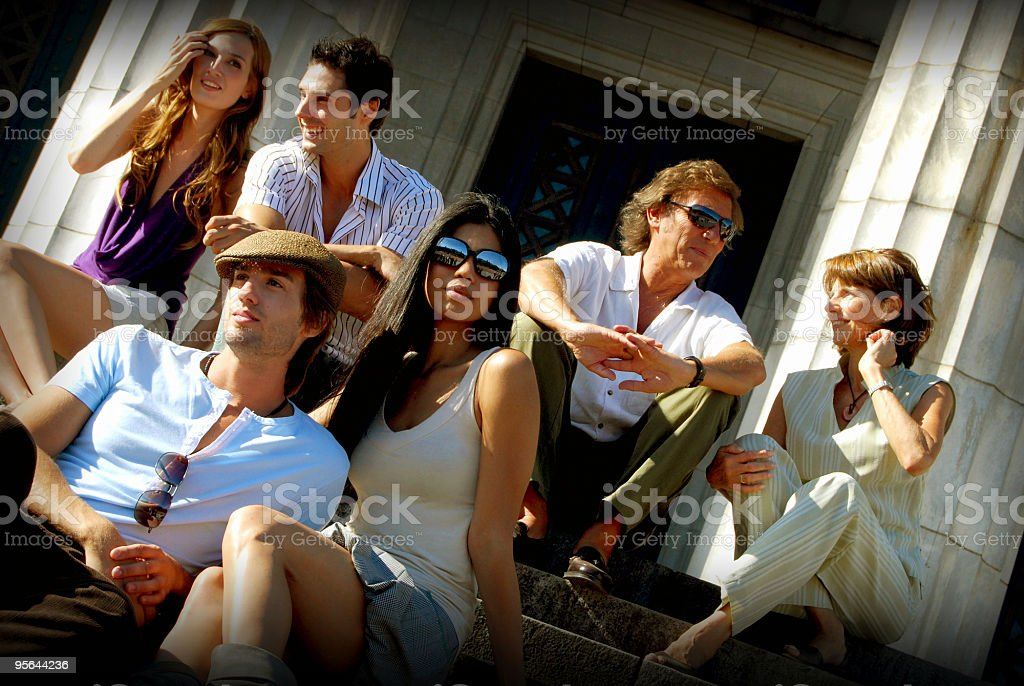 Friends Group Fun royalty-free stock photo