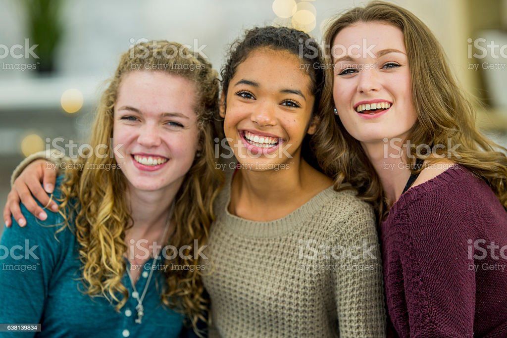 Friends Hanging Out After School stock photo