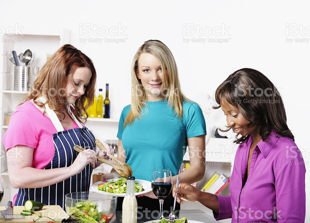 Friends Having A Healthy Meal stock photo