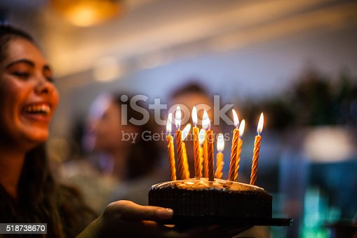 istock Friends having a lot of fun at birthday party 518738670