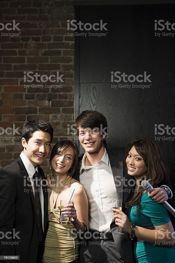 Friends having a night out 免版稅 stock photo