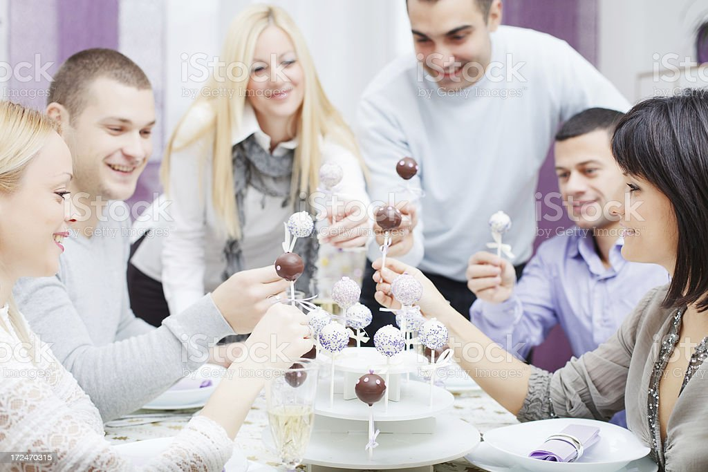 Friends having a party. royalty-free stock photo