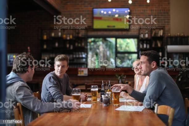 Friends having beers and pizza at a restaurant picture id1172274904?b=1&k=6&m=1172274904&s=612x612&h=05fi7xnwa3ppcvqt5qku0tirqilrxy3ilx8cmgc2vk4=