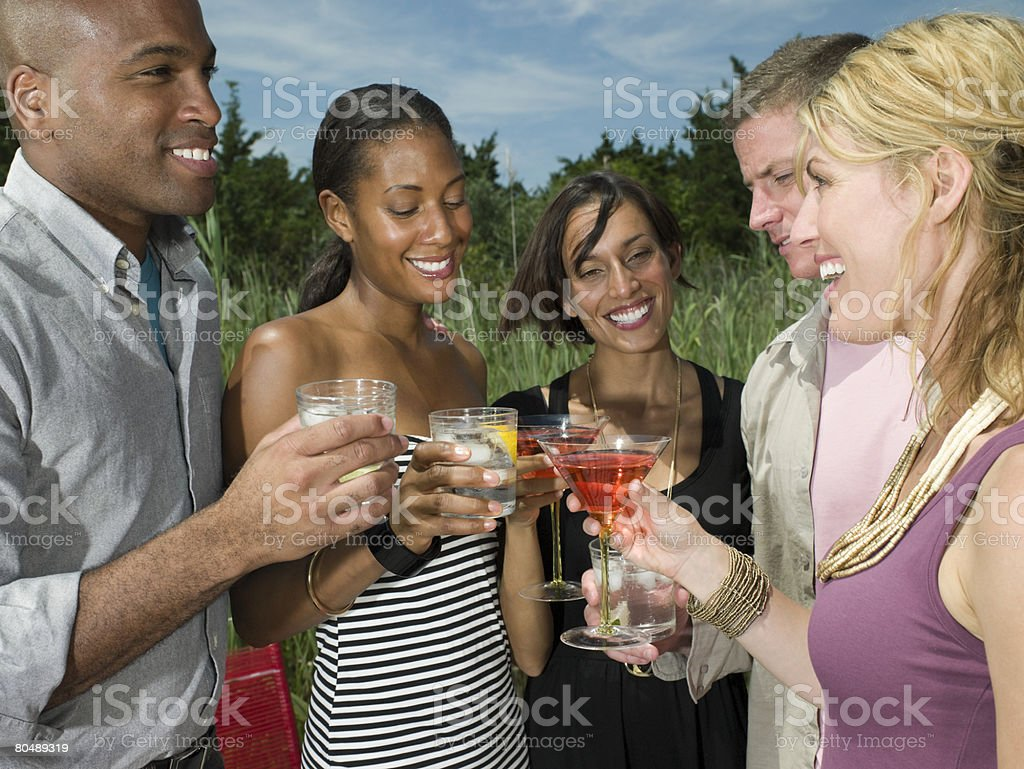 Friends having drinks 免版稅 stock photo