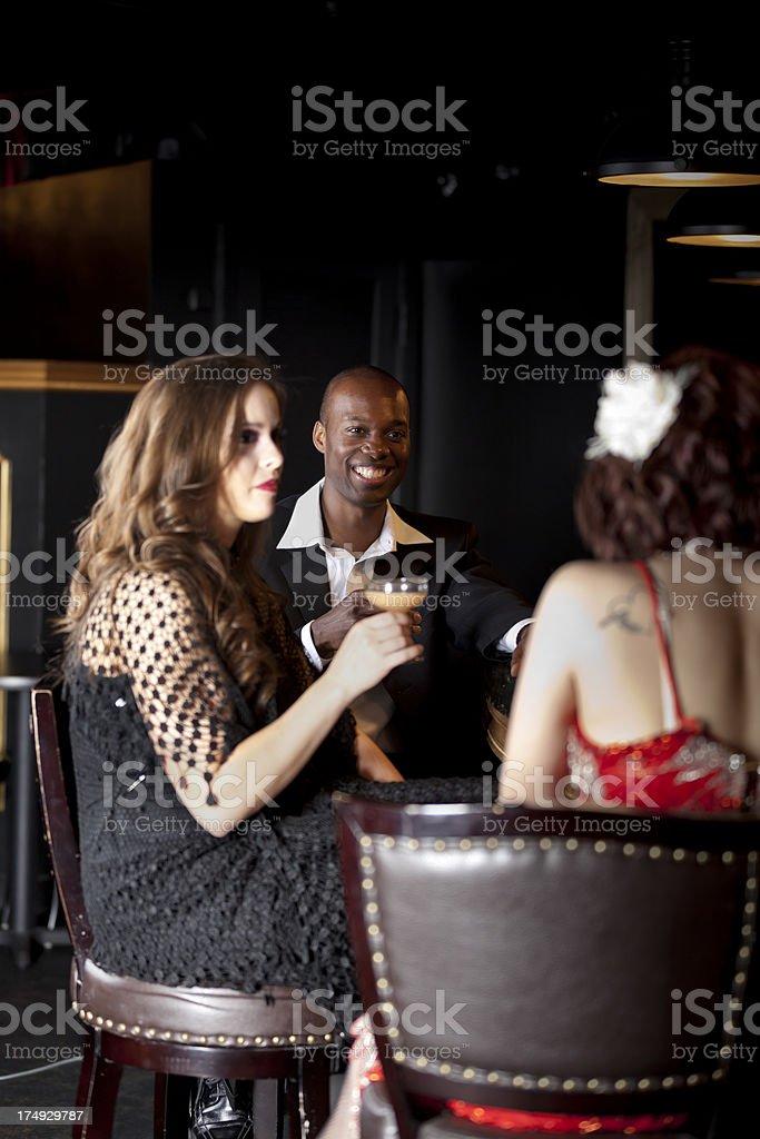 Friends Having Fun at a Bar stock photo
