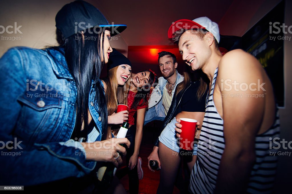 Friends Having Fun at Party stock photo