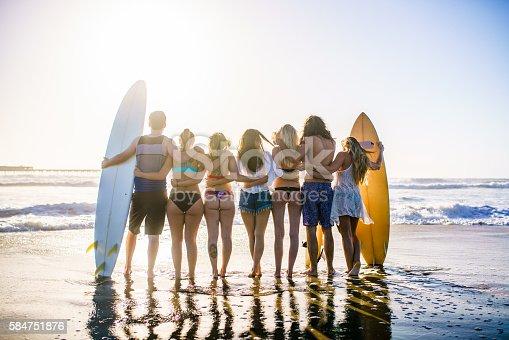 istock Friends having fun at San Diego beach 584751876