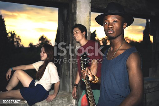 istock friends having fun in an urban place 502957307