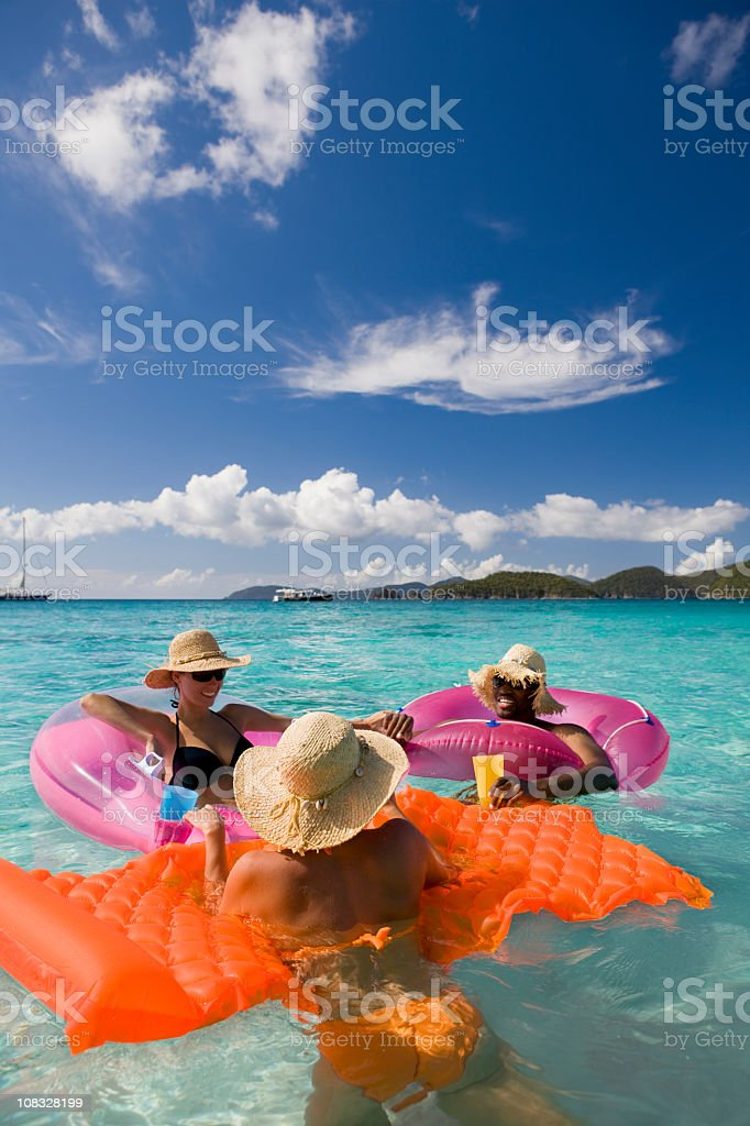 friends having fun in the Caribbean water royalty-free stock photo