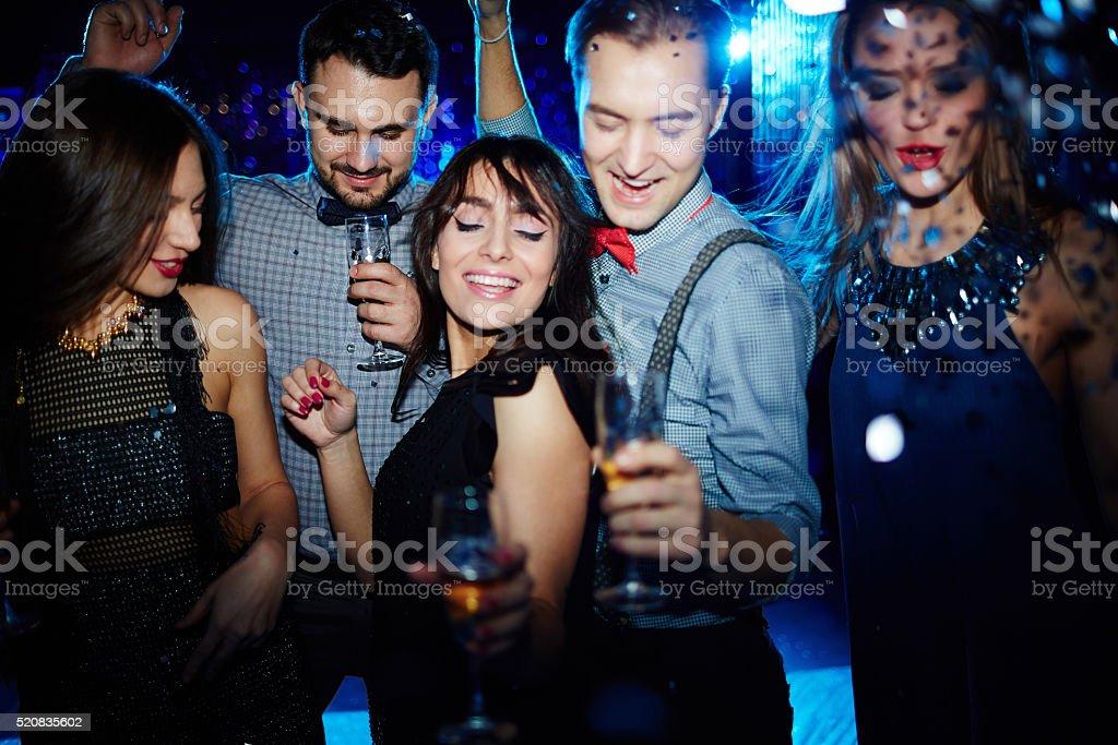 Friends having fun stock photo