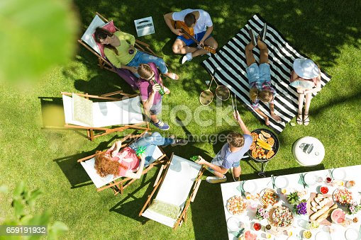 istock Friends having grill in garden 659191932
