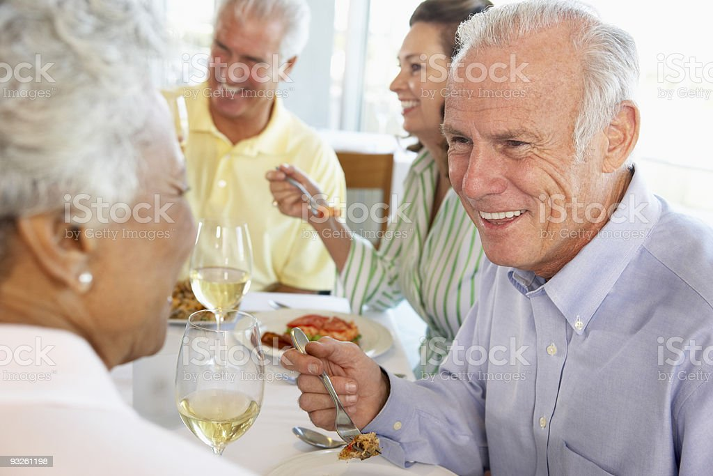 Friends Having Lunch Together royalty-free stock photo