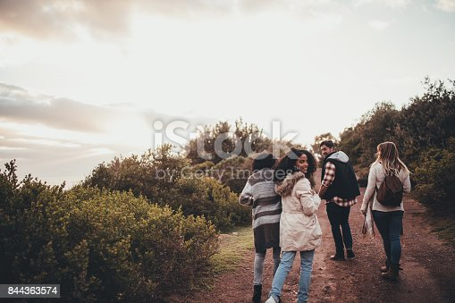 istock Friends hiking in nature 844363574