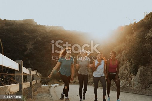 1051098428istockphoto Friends hiking through the hills of Los Angeles 1044213160