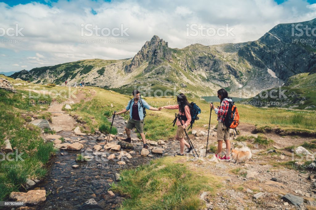 Friends Hiking Together Stock Photo - Download Image Now ...