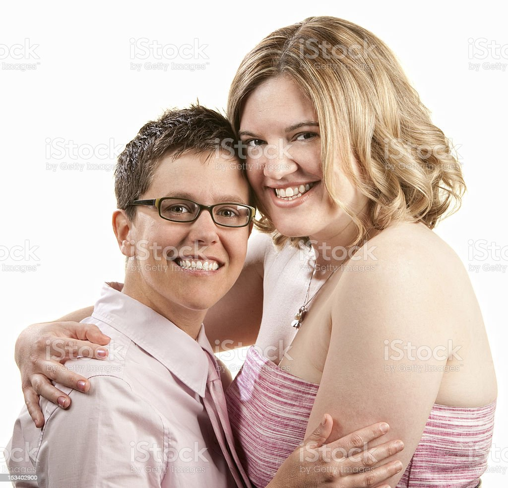 Friends Hugging royalty-free stock photo