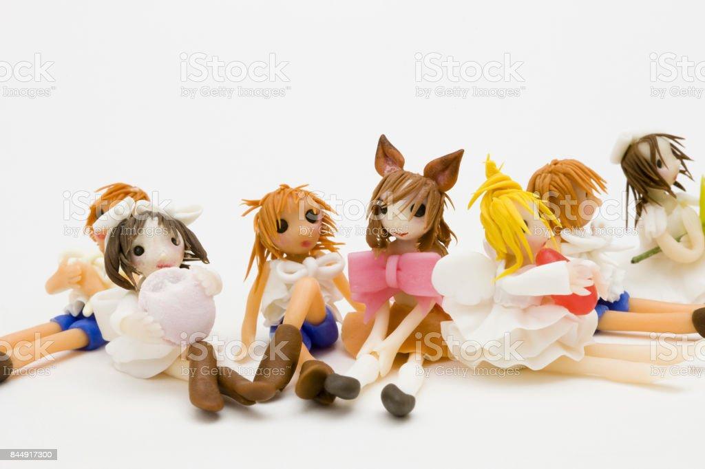 Friends image dolls stock photo