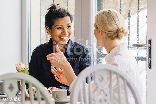 istock Friends In A Cafe 665424626