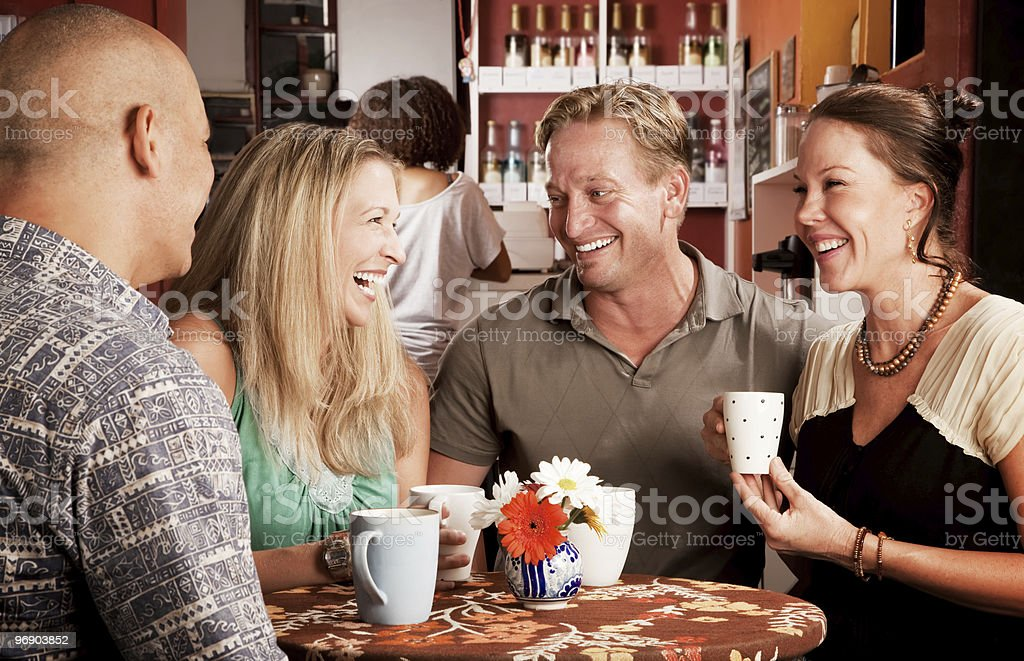Friends in a Coffee House royalty-free stock photo