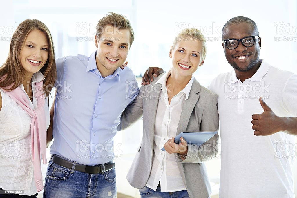 Friends in business royalty-free stock photo