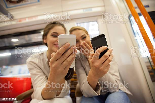 Friends In London Overground Stock Photo - Download Image Now