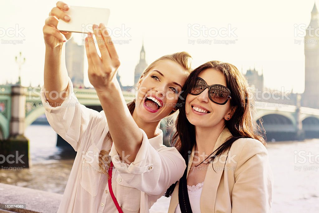 Friends in London royalty-free stock photo