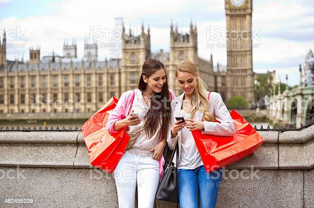 Friends In London Stock Photo - Download Image Now
