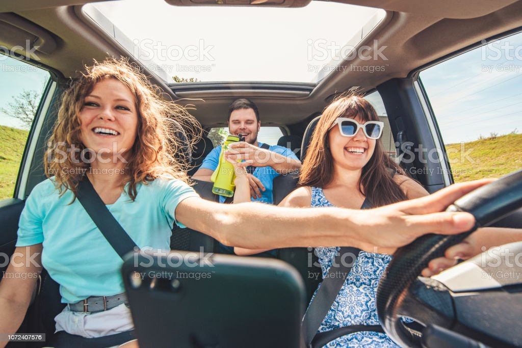 Friends In Long Road Trip Stock Photo Download Image Now Istock