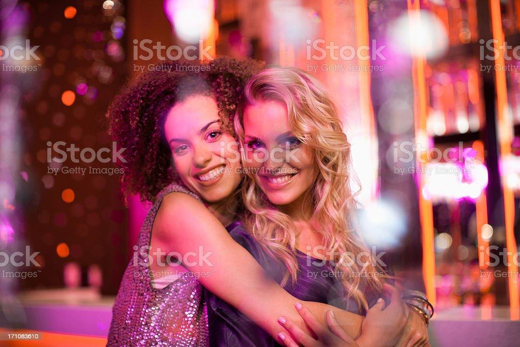 Friends in nightclub stock photo