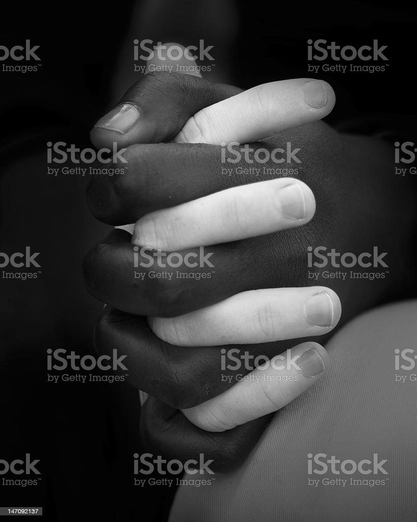 Friends in Racial Harmony stock photo