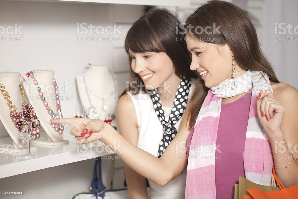 Friends in shopping royalty-free stock photo