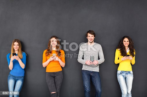 istock Friends in Social Network Concept 636187860