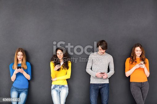istock Friends in Social Network Concept 636954002