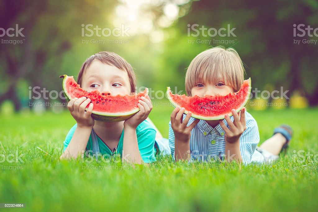 Friends in summer stock photo