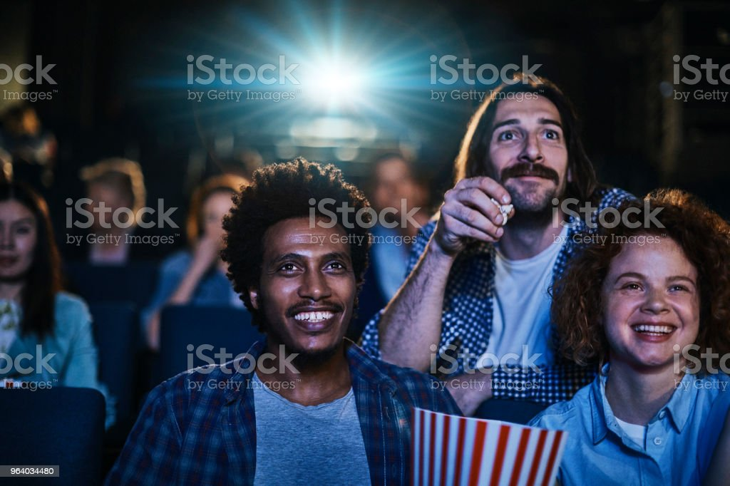 Friends in the Cinema - Royalty-free 20-29 Years Stock Photo
