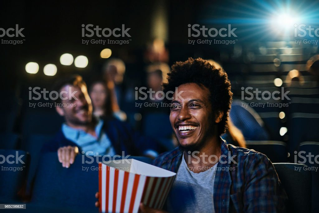 Friends in the Cinema royalty-free stock photo