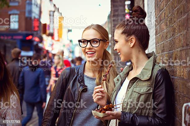 Friends In The City Stock Photo - Download Image Now