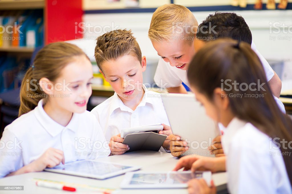 Friends in the Classroom stock photo