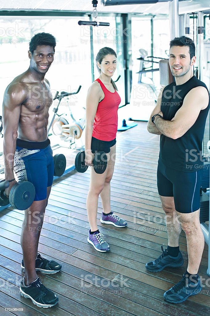 Friends in the gym royalty-free stock photo