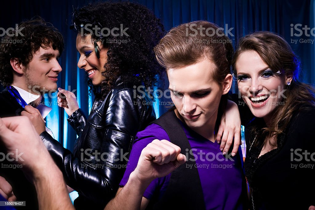 Friends in the Nightclub royalty-free stock photo