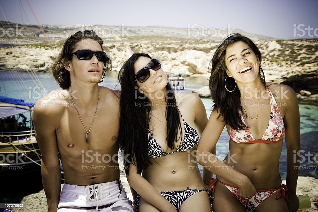 Friends in the Sun royalty-free stock photo
